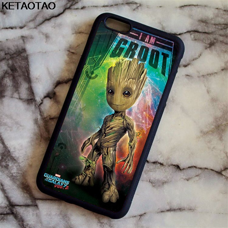 KETAOTAO Guardians Of For The Marvel Galaxy Phone Cases for iPhone 4S 5C 5S 6 6S 7 8 X for Samsung Case Soft TPU Rubber Silicone