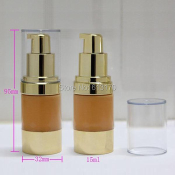 New Arrival 15ml airless pump bottle, Empty vacuum airless bottle, Eye cream cosmetic packing container Free shipping