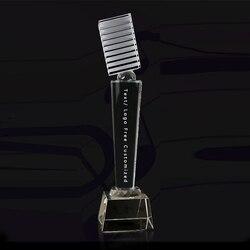 CTCB0054 Nuovo Su Misura Creativo Microfono Musica Cantante Discorso Concorso Awards Coppa Di Cristallo Souvenir di Trasporto di Goccia