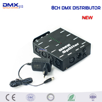 8CH DMX Splitter DMX512 Light Stage Light Signal Amplifier 8 Way DMX Distributor For Stage Light