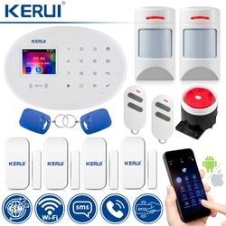 WiFi GSM Alarmsysteem Wireless Home Security Alarmsysteem Compatibel met Anti-pet Motion Detecor