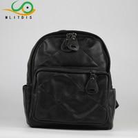 MLITDIS Bolsa Feminina Mochila Escolar Black Leather Women's Backpack Women School Bags For Teenagers Sac A Dos Femme Vintage
