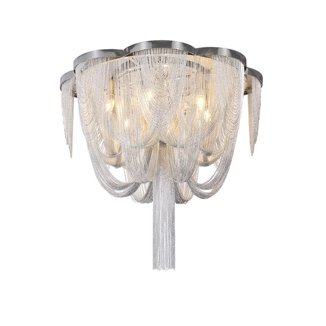 Included LED Bulb E14 Base Fashional Modern Pendant Light Aluminum Chains Pendant Lamps For Dining Room/Hotel/Bedroom