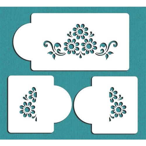 Cake Decorating Stencils : Daisy Lattice Cake Stencil#2 , Flowers Cake Side Stencil ...