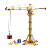 Lepin 02069 City Series the Building Crane Set 7905 Building Blocks Bricks City Lifting Machine For Children Toys Christmas Gift