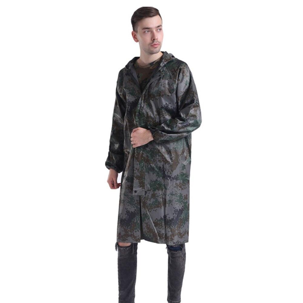110cm Adult Camouflage Raincoat Waterproof Outdoor Rain Wear Rain Coat Poncho Household Merchandises Raincoats Home