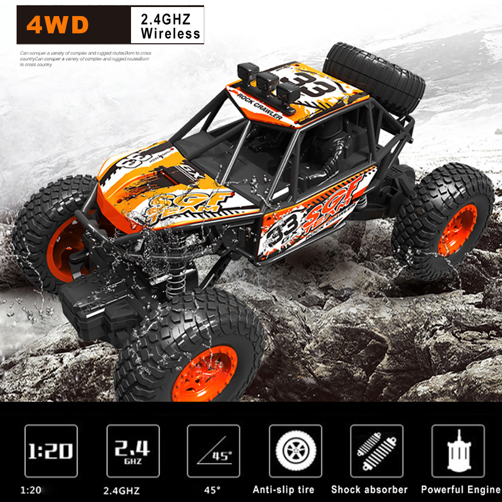 4WD <font><b>RC</b></font> Car High Speed 20KM/H 1:20 Truck Racing Climbing 2.4G Remote Control Cars Electric <font><b>RC</b></font> Cars <font><b>Drift</b></font> Off Road Car Vehicle Toy image