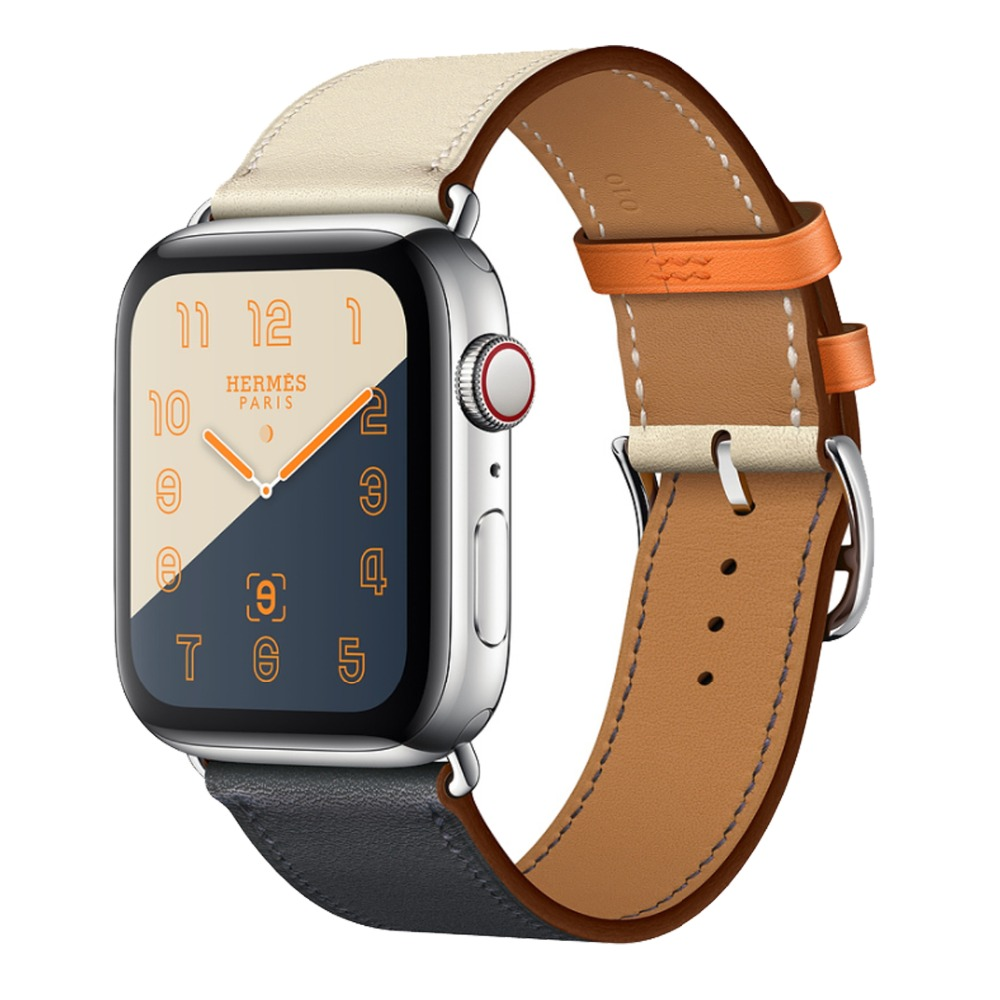 New Single Tour / Double Tour Leather Band for Apple Watch Series 4 44mm 40mm watchband Strap for iWatch Series 3 2 42mm 38mm leather strap for apple watch 38 42mm 40 44mm single double tour genuine replacement leather band for iwatch series 1 2 3 4