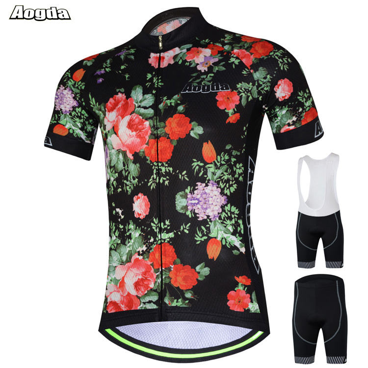 AOGDA Original Design Men Women MTB Bike Bicycle Cycling Jersey Sets Breathable Quick-Dry Sports Bib Jersey Suits 3D Gel Padd topeak outdoor sports cycling photochromic sun glasses bicycle sunglasses mtb nxt lenses glasses eyewear goggles 3 colors