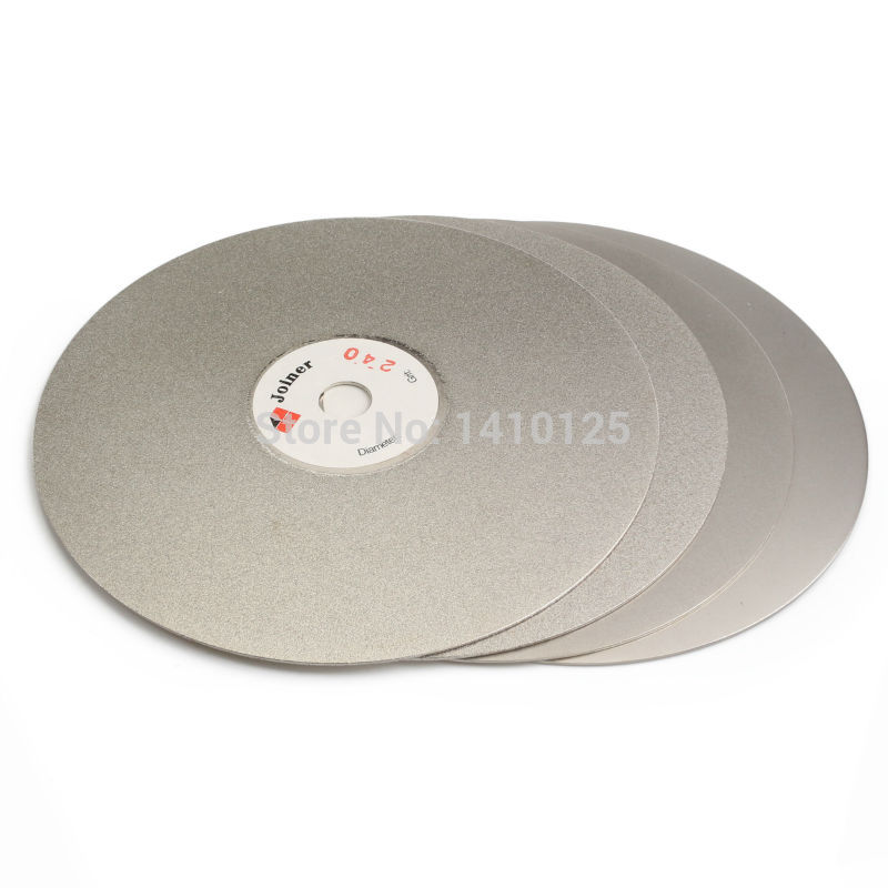 4Pcs 6 inch Grit 240 600 1200 3000 Diamond Grinding Disc Coated Flat Lap Disk Abrasive