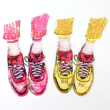 цена на Clothing Accessories Embroidered Sequins Patched Clothes Diy Decorative Large Decals Shoes Cloth Stickers
