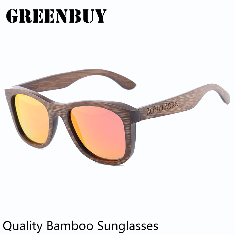b3d729e8ed Brown Sunglasses Women Brand Designer Retro Bamboo Glasses Frame Anti  reflective Polaroid Sun Glasses Polarized Oculos Feminino-in Sunglasses  from Women s ...