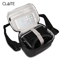 Claite Portable VR Glasses Case Bags Outdoor 3D Virtual Reality Storage Carrying Travel Case Bag For