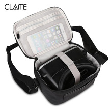 Claite Portable VR Glasses Case Bags Outdoor 3D Virtual Reality Storage Carrying Travel Case Bag For Outdoor Party Theater