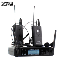 GLXD24 GLXD4 Professional UHF Wireless Microphone System Headworn Headset Mic Cordless Receiver For Karaoke Home Stage Church