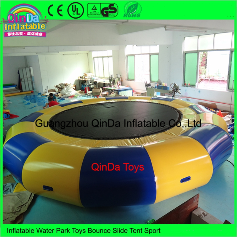 Wholesale 100% PVC Tarpaulin Air Tight 3M Diameter Inflatable Water Boungee Trampoline For Rental hb15 wholesale price pvc 3m long inflatable airplane airship blimp zeppelin with tail black air plane