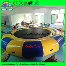 Wholesale 100% PVC Tarpaulin Air Tight 3M Diameter Inflatable Water Boungee Trampoline For Rental