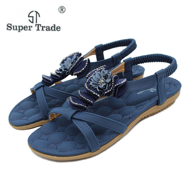 157e98381859 Size 35-41 Summer Sandals Bling Rhinestone Flats Women Platform Wedges  Sandals Fashion Flip Flops Comfortable Shoes Woman ST6-4