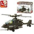 Sluban kits de edificio modelo compatible con lego city aficiones avión 1091 bloques 3D modelo Educativo y juguetes de construcción para los niños