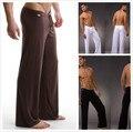 2016 Black/Gray/Black/White Men Sexy Silky Lounge Loose-fitting Baggy Sporting Yoga Pants Pyjama Men Pajamas Sleepwear Trousers