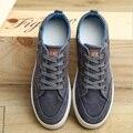 Мужчины холст обувь 2016 Новый мужчины открытый досуг обувь мужчины денима холст обувь на плоской подошве дышащие повседневная обувь 06