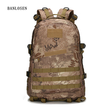 Men Women Canvas Backpack Rucksack Travel Bag Army Backpack