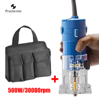Prostormer 500W Copper Motor Electric Trimmer Power Woodworking Tools Carving Machines 30000RPM