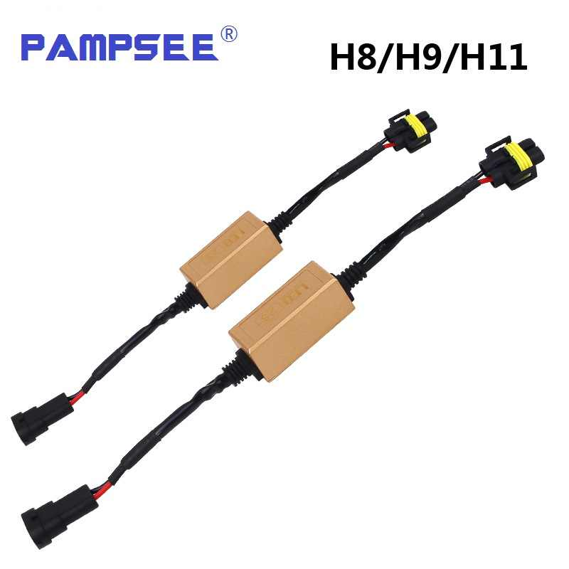 PAMPSEE H4/H7/H8/H11/H13/HB3(9005)/HB4(9006) Canbus Wiring Harness Adapter LED Car Headlight Bulb Auto Headlamp Fog Light CANBUS