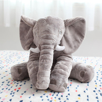 Fashion 60cm Animal Elephant Style Pillows Cushions Cotton Neck Decorative Soft Pillow Home Room Bed Decoration