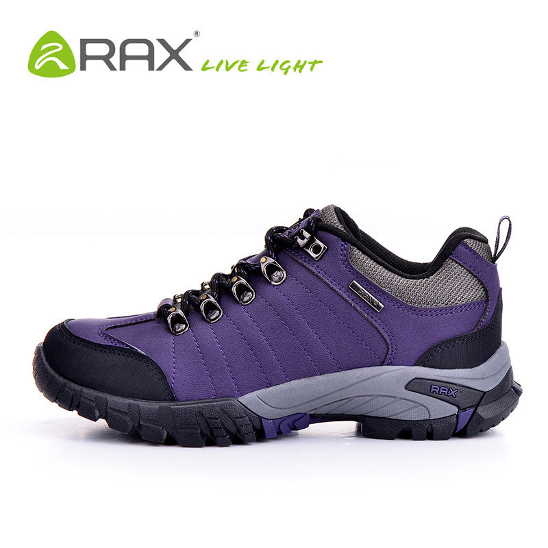 Rax Surface Waterproof Genuine Leather Hiking Shoes Men Women Outdoor Breathable Mountaineering Climbing Walking Trekking Shoes women outdoor hiking shoes professional breathable new design women climbing shoes brand genuine leather sports shoes bd8061