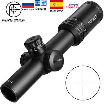 Silver 1-4X24 Riflescopes Rifle Scope Red Dot Hunting  w/ Mounts For AR15 AK - DISCOUNT ITEM  40% OFF All Category