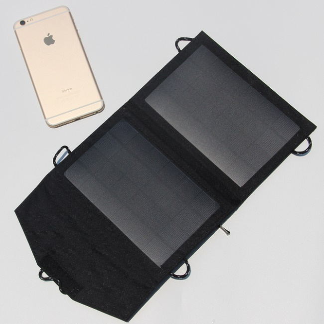 NEW 5W Portable Solar Panel Charger For Mobile Phone Mono Solar Panel Foldable Solar Battery Charger High Quality Free Shipping