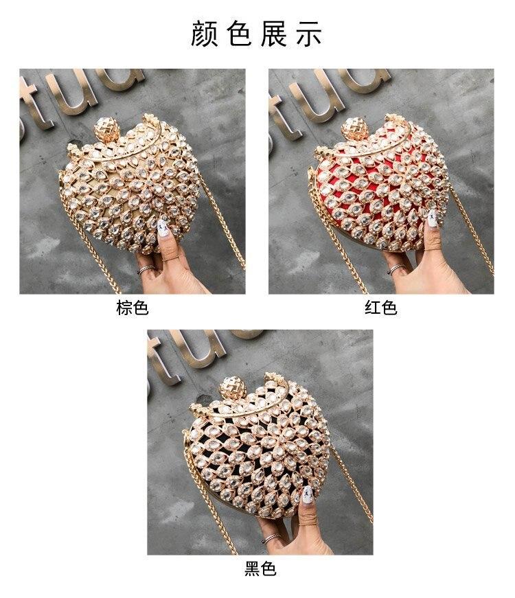 Luxo de alta qualidade diamantes mulheres sacos