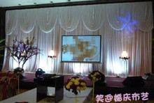 Pure white 3M*6M wedding stage decoration Wedding Backdrop with Beatiful Swag Wedding drape and curtain wedding supplies