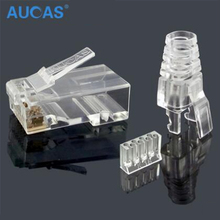 Aucas High Speed rj45 cat6 plug 8P8C computer network cable connector modular plug cat 3-piece suit Free Shipping