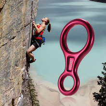 Lixada 35KN Rescue Figure 8 Descender Outdoor O-ring Hook Rappel Device for Rappelling Belaying Rock Climbing Accessories gm climbing rappel ring for hammocks aluminum descender rings 25kn 5600lbs o ring for rescue rock climbing caving 10pcs