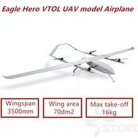 Eagle Hero VTOL Vertical take off and landing Electric Power 3500mm wingspan carbon fibre UAV model Airplane KIT/ARF