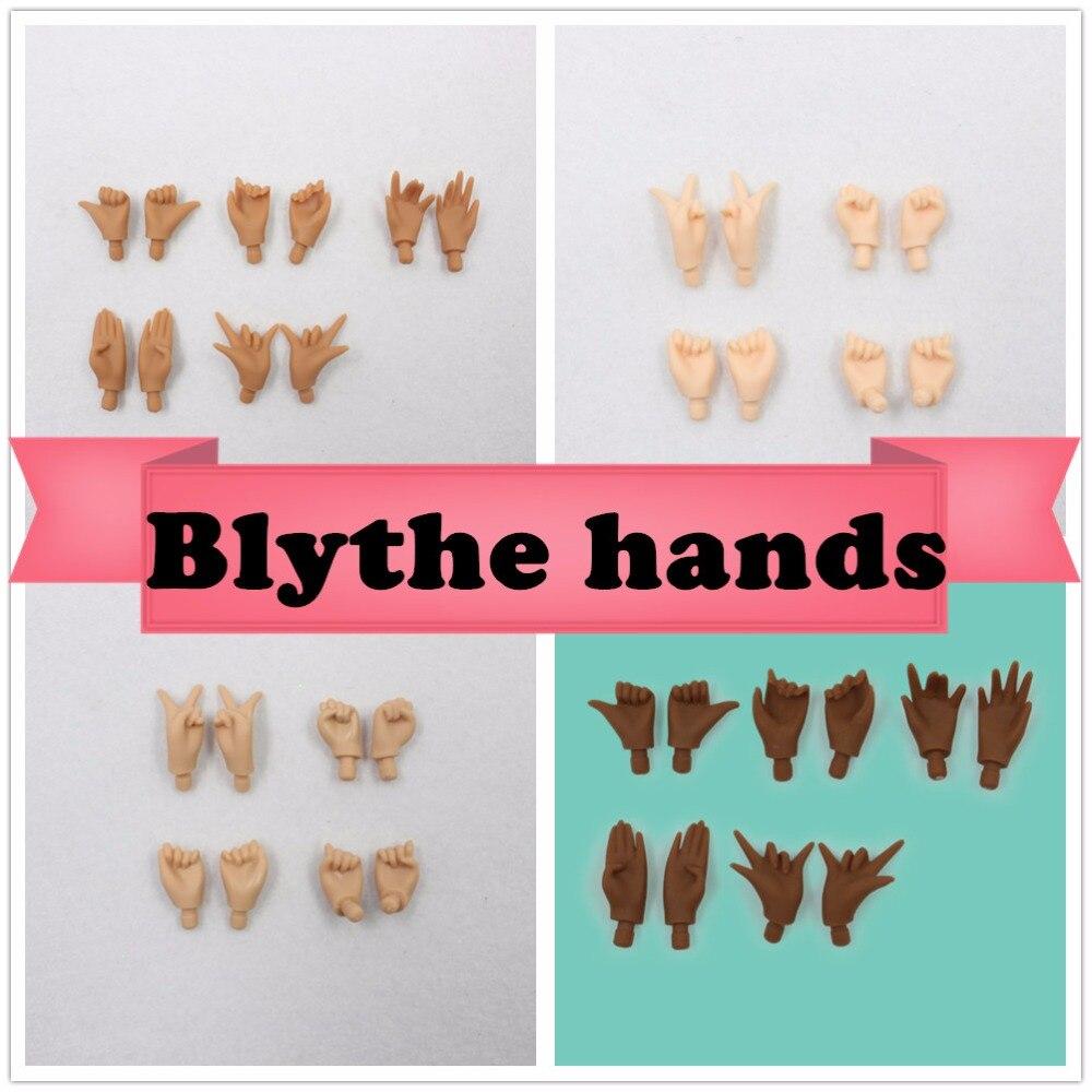 For blyth doll joint body azone body boy body hands handset A B white natural tan dark super black skin цены