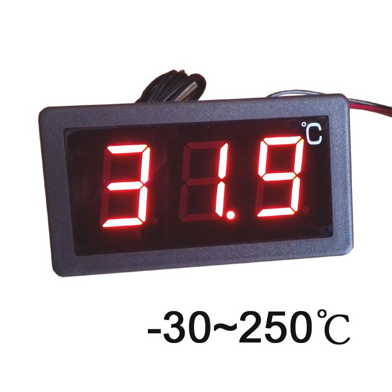 d5bbc327949 -30-250 Graus Celsius Termômetro Tela Grande Led Display Digital Termostato  12 V e 220 v Poder