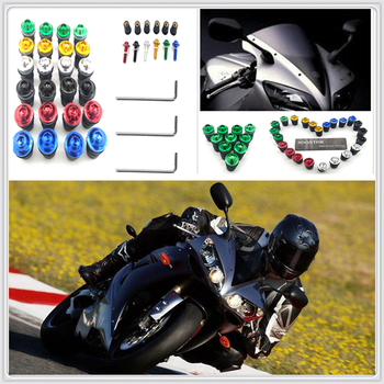 10PCS red Motorcycle Screw Kit BOLTS Windscreen Windshield Bolt Screws for SUZUKI GSXR1000 GSXR600 Kawasaki NINJA 300 250R image