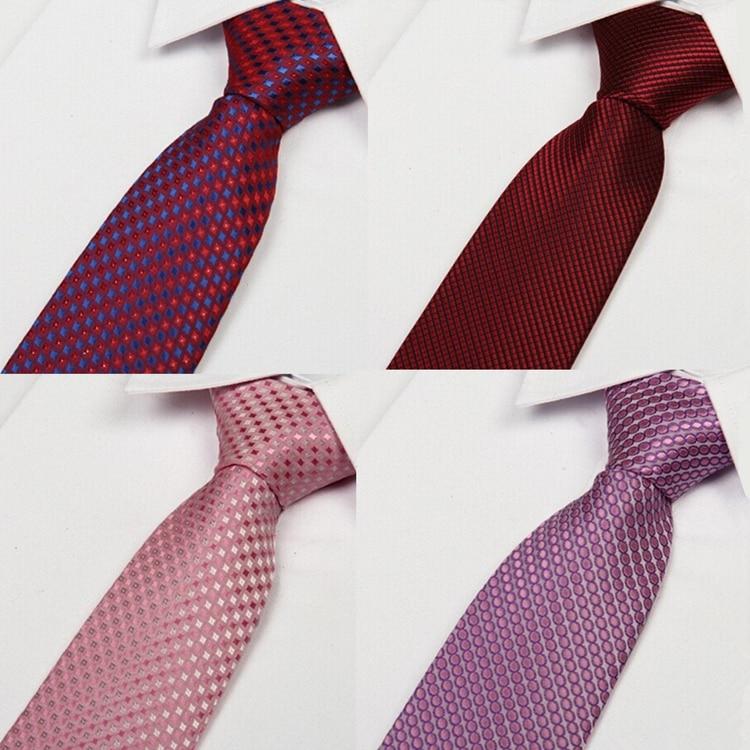 SHENNAIWEI 2016 Men's Silk Tie Stripe Corbatas 8cm Jacquard Woven  Masculinas Jacquard Gentlemen Neckties Fashion Casual Lote