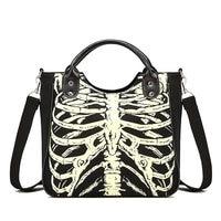 Women Bags Luminous Gothic Skeleton Bones Skulls Bags Rock Designer Female Casual Totes Women Punk Bags Fashion Handbag