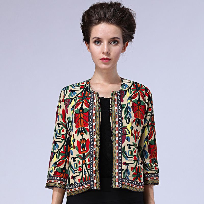 Aliexpress.com : Buy Kimono Folk Jacket Women Autumn Embroidery ...