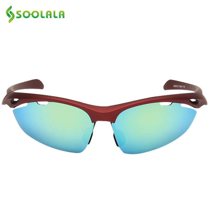 SOOLALA Sports Polarized Sunglasses Mens Women For Sports Goggle Windshield Driver Glasses Brand Designers 2017 Sunglasses