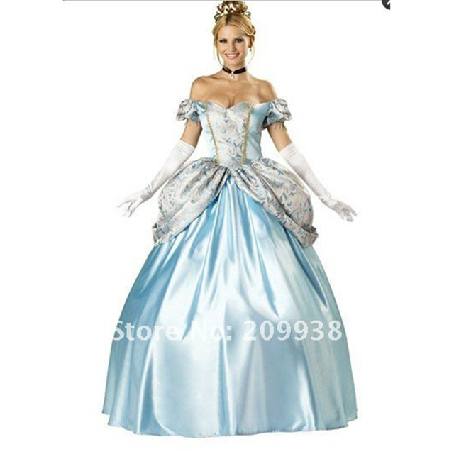 Adult Princess dress  cosplay Halloween Costumes For Women Adult Cinderella Costume Movie Sexy Cinderella Princess costumes