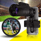 35x50 HD Zoom Monocular Observing Camping Mobile Phone Telescope Universal with Cell Phone Lens Camera For Smartphone