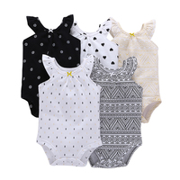 2017 New Model 5pcs Lot Summer Autumn Short Sleeve Toddler S Cotton Bodysuits Baby Boy And