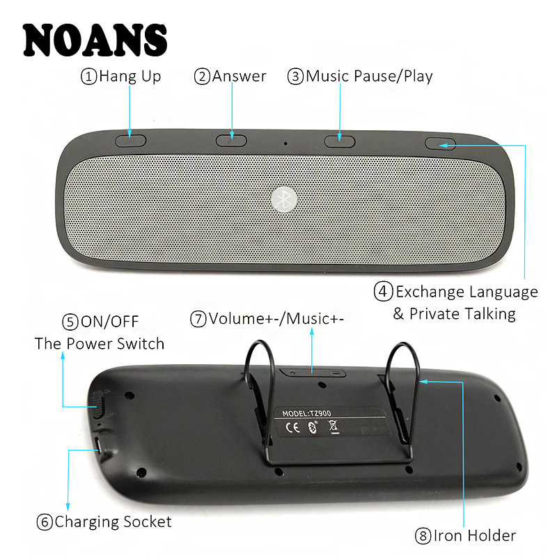 NOANS Kit voiture haut-parleur mains libres Bluetooth mains libres sans fil haut-parleur téléphone pour Audi a3 a4 b6 b8 b7 b5 a6 Volkswagen VW Polo