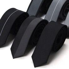 Новые дизайнерские бренды модные деловые повседневные тонкие галстуки 5 см для мужчин узкий галстук офисная работа gravata пакет с подарочной коробкой