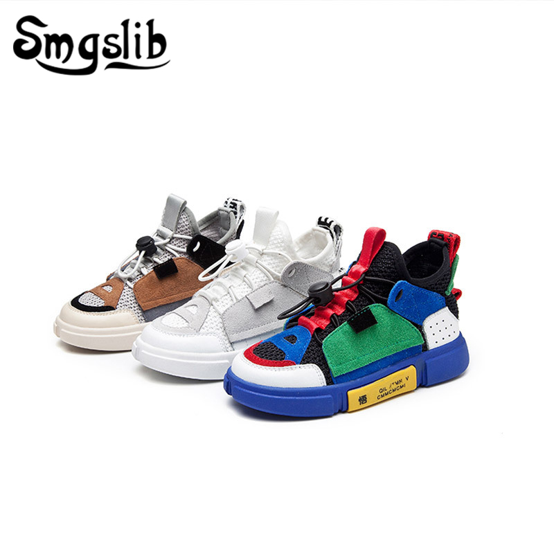 Children Shoes Boy Kids Sports Casual Sneaker 2019 Spring Autumn Girls Shoes Toddler Baby Leather Sneaker Girl Shoes